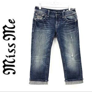 💕SALE💕 Miss Me Diamond Embellished Crop Jeans
